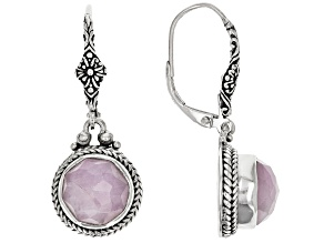 Kunzite Silver Dangle Earrings 7.08ctw