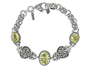 Lemon Citrine Silver Bracelet 8.44ctw
