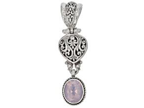 Lavender Moon Quartz Silver Pendant 2.75ctw