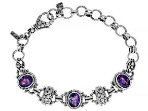 Blue Jay Jazz™ Quartz Silver Bracelet 4.62ctw