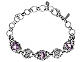 British Tea Rose™ Quartz Silver Bracelet 3.84ctw