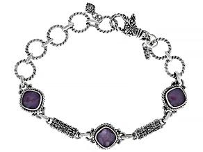 Ruby Triplet Silver Bracelet