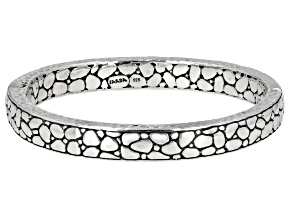 Sterling Silver Watermark Design Bangle Bracelet
