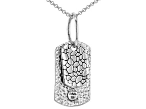 "Sterling Silver Watermark Design Pendant With 18"" Chain"