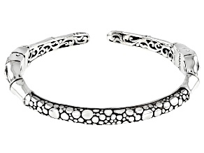 "Sterling Silver ""Supremely Happy Forever"" Bangle Bracelet"