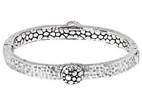 "Sterling Silver ""Overflowing Abundance"" Bangle Bracelet"