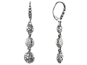 "Sterling Silver ""Overflowing Abundance"" Graduated Earrings"