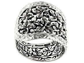 Sterling Silver Frangipani Flower Ring