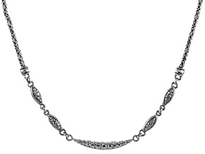 "Sterling Silver ""Faithful Servant"" Bar Necklace"