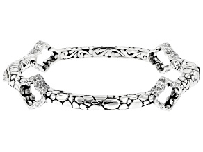 "Sterling Silver ""Attitude of Gratitude"" Bangle Bracelet"