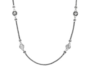 "Sterling Silver ""Promises III Collection"" Station Necklace"