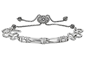 "Sterling Silver ""Supremely Happy Forever III"" Adjustable Bracelet"