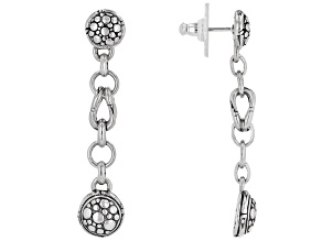 "Sterling Silver ""Supremely Happy Forever III"" Dangle Earrings"