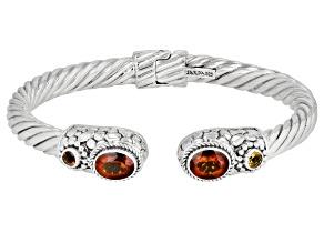 Orange Madeira Citrine Sterling Silver Cuff Bracelet 2.88ctw