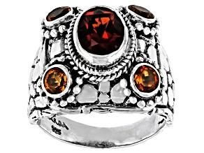 Orange Madeira Citrine Sterling Silver Ring 1.92ctw