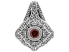 Red Hessonite Garnet Sterling Silver Pendant 1.09ct