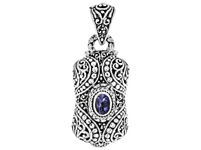 Blue Tanzanite Sterling Silver Pendant .62ct