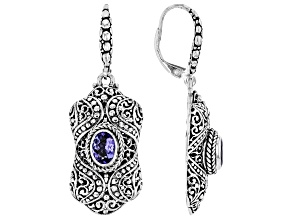 Blue Tanzanite Sterling Silver Earrings 1.24ctw