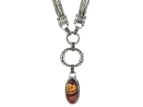 Multi-Color Mookaite Sterling Silver Necklace