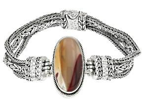 Multi-Color Mookaite Sterling Silver Bracelet