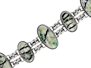 Green Opal Sterling Silver Bracelet