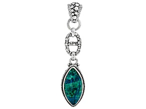 Green Chrysocolla Sterling Silver Pendant