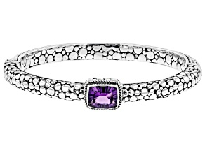 Purple Amethyst Sterling Silver Bracelet 2.13ct