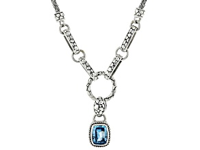 Blue Topaz Sterling Silver Necklace 2.60ct
