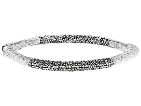 "Sterling Silver ""Limitless Strength"" Bangle Bracelet"