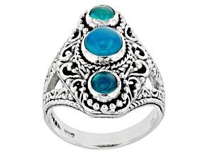 Blue Paraiba Opal Silver Ring