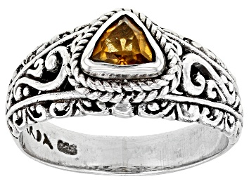 Picture of Yellow Citrine Sterling Silver Ring .77ct