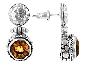Citrine Sterling Silver Earrings 3.40ctw