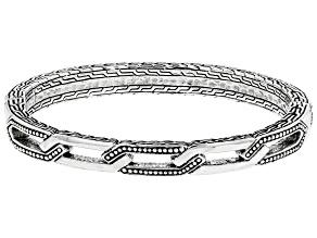 Sterling Silver Chainlink Hammered Bracelet