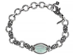 Green Variscite Sterling Silver Bracelet