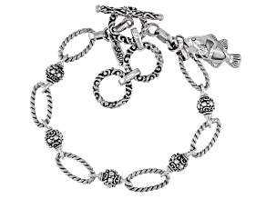 White Mother-of-Pearl Silver Fish Bracelet