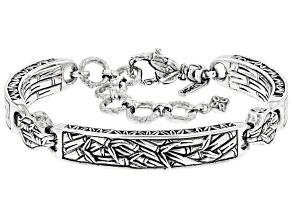 "Sterling Silver ""Renewed Strength"" Scallop Bracelet"