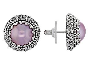 Pearl Mabe Sterling Silver Earrings