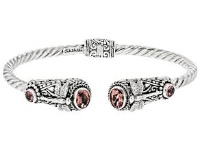 Always True Rose™ Quartz & Topaz Silver Bracelet 1.84ctw