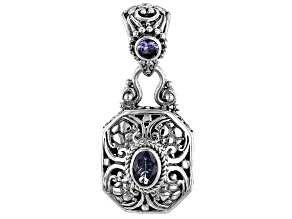 Blue Tanzanite Sterling Silver Pendant .86ctw