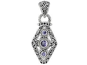 Blue Tanzanite Sterling Silver Pendant .73ctw