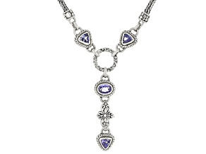 Blue Tanzanite Sterling Silver Necklace 1.38ctw