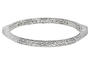 "Sterling Silver ""Strength And My Song"" Bangle Bracelet"