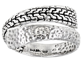 "Sterling Silver ""Strength And My Song"" Bypass Ring"