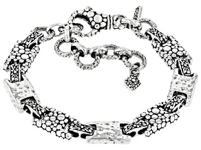 "Sterling Silver ""Strength To The Weary"" Bracelet"