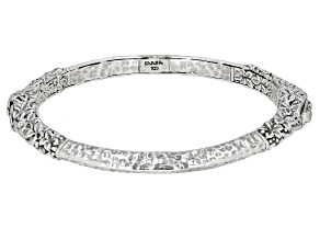 "Sterling Silver ""He Is The Vine"" Bangle Bracelet"