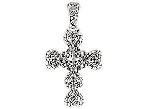 "Sterling Silver ""Righteousness By Faith"" Cross Pendant"