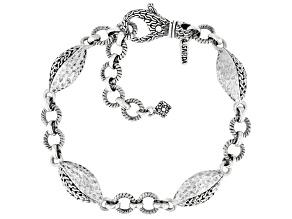 """Sterling Silver """"Safe Refuge"""" Station Bracelet"""