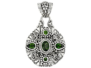 Green Chrome Diopside Sterling Silver Pendant 1.74ctw