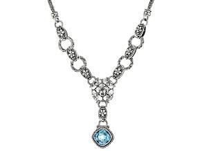 Sky Blue Topaz Sterling Silver Necklace 4.31ct