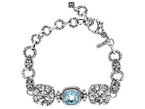 Sky Blue Topaz Sterling Silver Bracelet 4.31ct